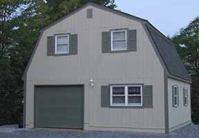 Barn Garage Plans with Gambrel Roof Style..